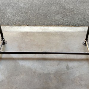 "Black Pipe Table Base, ""DIY"" Parts Kit, 3/4"" Pipe x 28"" wide x 28"" tall X 58"" LONG"
