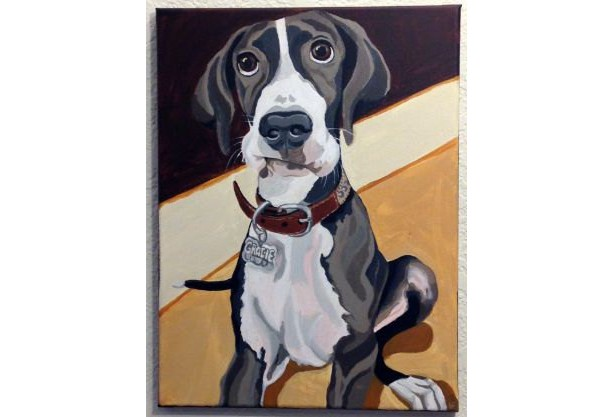 "Gracie - Custom Dog Portrait - 12"" x 16"" x 1.5"""