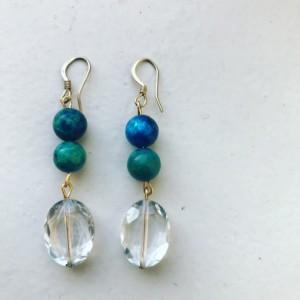 Teal Earrings