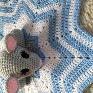 Mouse Lovey Baby Blanket, Comfort Blanket, Security Blanket, Baby Shower Gift