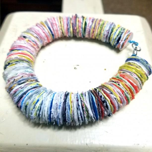 Plastic Disc Bracelet