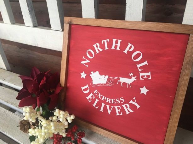 North Pole Delivery Christmas Decor Sign