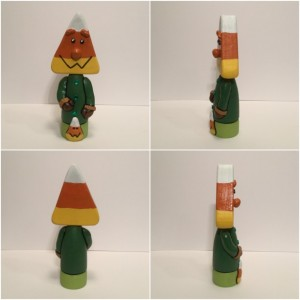 Halloween candy corn figurine