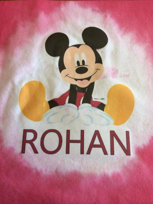 DISNEY MICKEY MOUSE PERSONALIZED PILLOW