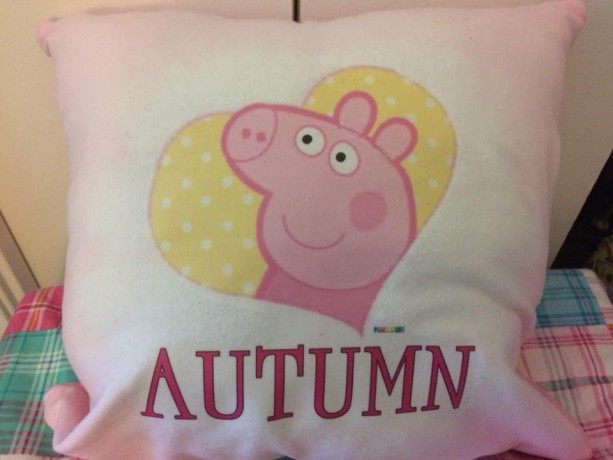 PEPPA PIG PERSONALIZED PILLOWS
