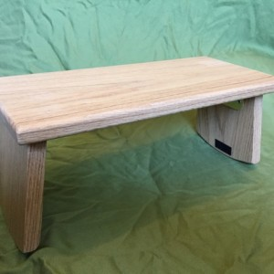 Handmade Meditation Bench - Oak with folding legs *FREE SHIPPING*