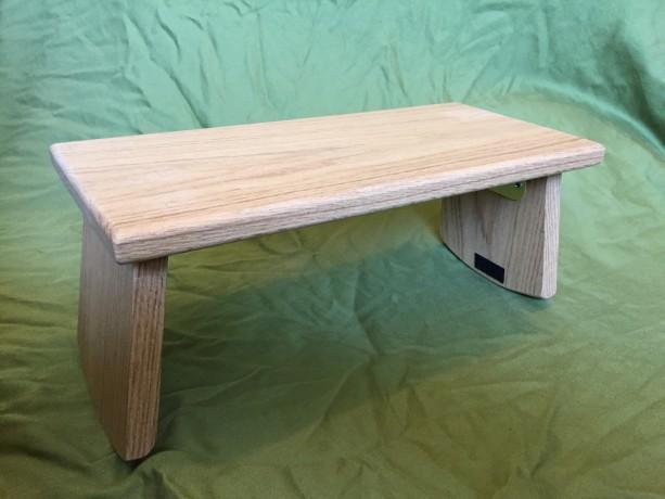 Handmade Meditation Bench - Oak with folding legs *FREE SHIPPING*