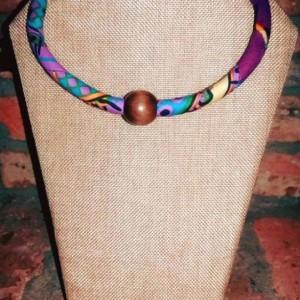 African Print Beaded Necklace, Tribal Ankara Necklace, Fabric Ankara Beaded Necklace, Ankara Necklace, Ankara African Print Beaded Necklace