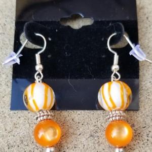 Orange Bead Earrings