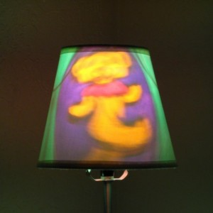 Hand-Painted Grateful Dead Dancing Bear Mood-Light Bulb