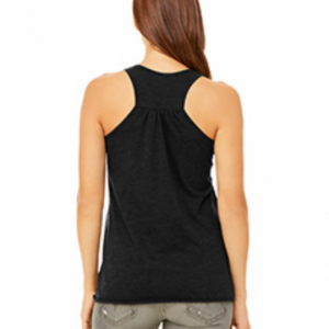 Muscles & Mascara, Juniors, Women's, Flowy, Gathered back, Graphic Racerback Tank. Lightweight and fashionable