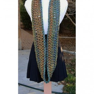 Colorful CROCHET INFINITY SCARF Loop Cowl, Rust Blue Red Gold Teal Green, Thick Extra Soft Winter Chunky Bulky Knit Circle..Ready to Ship in 3 Days