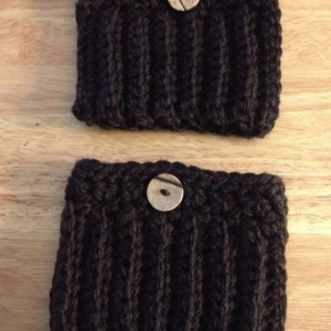 Crochet Boot Cuffs/Brown
