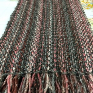 pink & grey: handwoven silk blend scarf