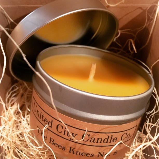 The Bees Knees No.8 -- light like an ancient Egyptian. In 3000 BC they designed the first candle made from beeswax. 100% beeswax.
