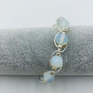 Silver and Moonstone Bracelet