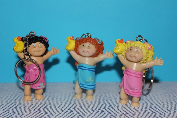 Cabbage Patch Kids Bath Time Upcycled Vintage PVC Keychain