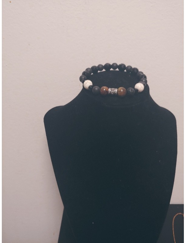 Men Mixed Stones Bracelet