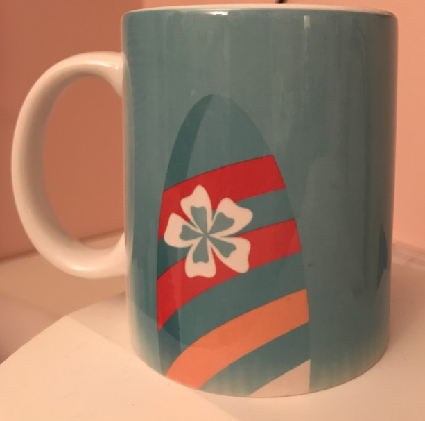 Hawaiian Surfboard Coffee Mug