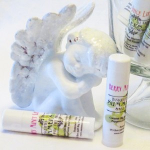 Summer's Skin Berry Mint Lipbalm, All Natural, Handcrafted, 3 each