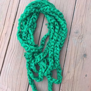 Infinity Chain Fashion Ruffle Yarn Scarf by Give A Yarn Crafts