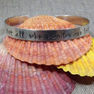 Not all who wander are lost cuff bracelet