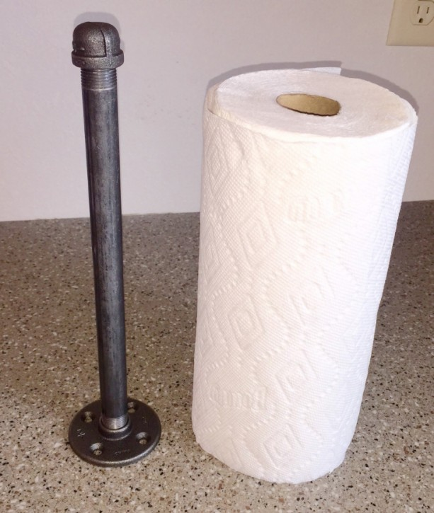 Industrial Black Pipe Paper Towel Holder  DIY  Kit  Free Standing for  counter top. Industrial Black Pipe Paper Towel Holder  DIY  Kit  Free Standing
