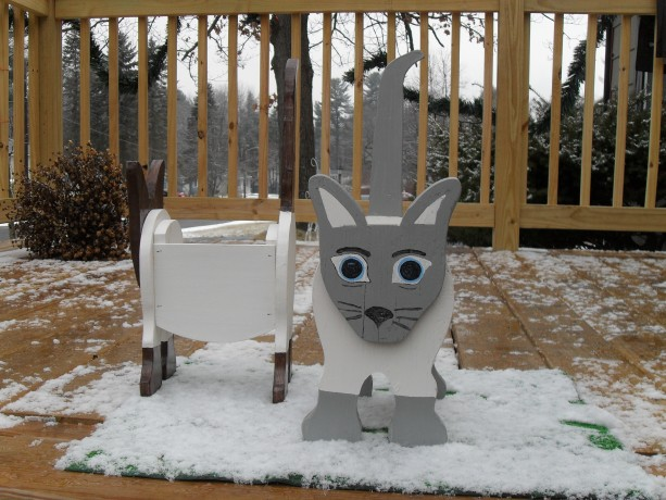 Siamese Cat Planter Box