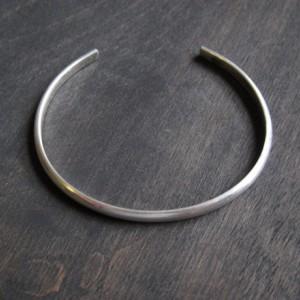 Men's Classic Sterling Silver Cuff Bracelet, Simple Silver Cuff Bracelet, Sturdy Men's Sterling Bracelet