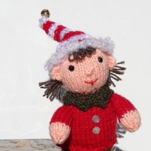 Christmas Elf, Knitted Elf, Christmas Decoration, Tree Ornaments, Santa's Helper, Knitted Fairy Doll Toy, Christmas Gnome, Ready to Ship