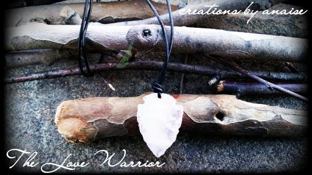 Rose Quartz Arrowhead Necklace