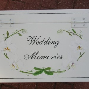 white orchid wedding keepsake chest box personalized wedding gift