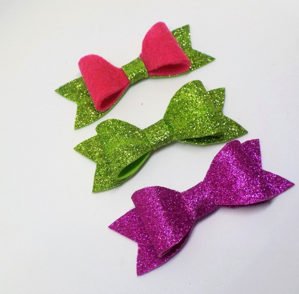 Glitter Foam Hair Bows - Sparkle Hair Bows for Girls