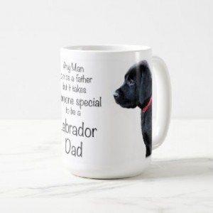 Black Lab Mug - Labrador Mug - Labrador Gifts - Lab Dog- Dog Dad - Lab Dad - Fathers Day -Labrador Retriever - Black Dog Art - Black Lab Art