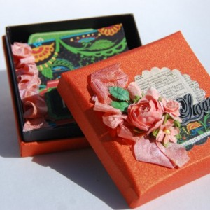 Altered Box and Mini Scrapbook - Love and Inspire