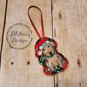 Buy 3 Get 1 Free Christmas Puppy Dog Ornament