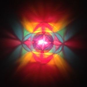 Hand-Painted Rainbow Flower of Life Mood-Light Bulb