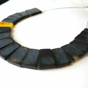 Baltic Amber Necklace , Modern Necklace , Dark Amber Necklace .