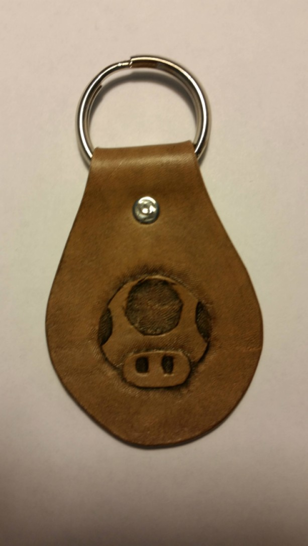 Mario Mushroom Keychain Fob