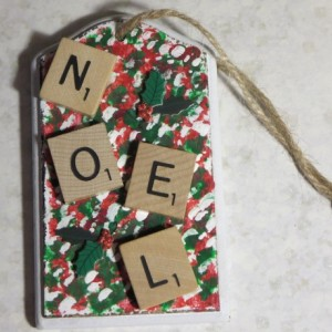 Scrabble® Game Tile Christmas Ornament (FREE SHIPPING!) Noel