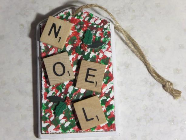 Scrabble® Game Tile Christmas Ornament (FREE SHIPPING!) Noel