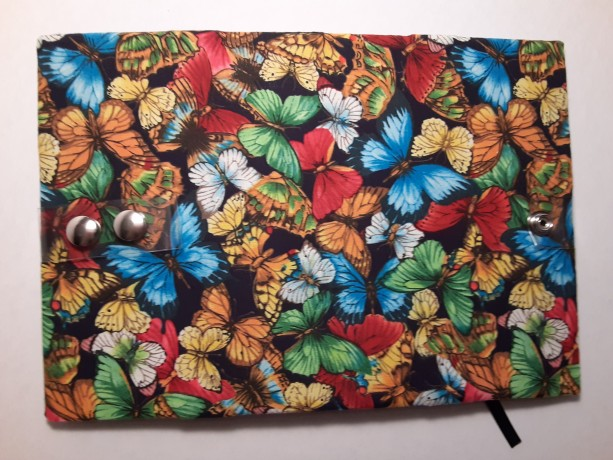 Read E-Z book cover/holder in Butterfly Rainbow fabric