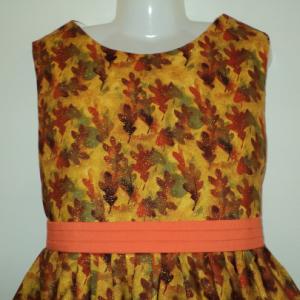 NEW Handmade Fall/Autumn Leaves Sparkle Dress Custom Size 12M-14Yrs