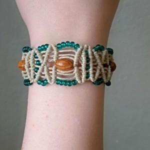 Bohemian Macrame Cuff Hemp Bracelet