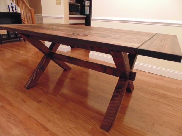 ... Crossed Leg Farmhouse Table ...