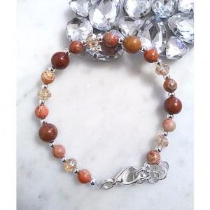 Jasper Beads Multi Gemstone Beaded Bracelet, Mookaite Bracelet, Crystal Bracelet, Gemstone Bracelet, Spring Jewelry, Jewelry Sale, Mom Gift