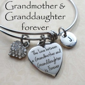 Grandmother & Granddaughter Forever Stainless Steel Bangle