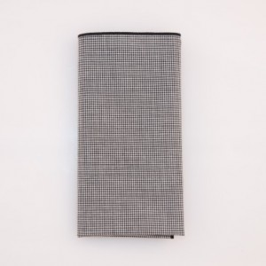 Pocket Square - Black/White Micro Check