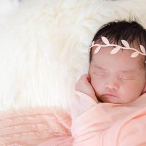 Super Adorable Peach Blush Cheesecloth Wrap & Headband Set
