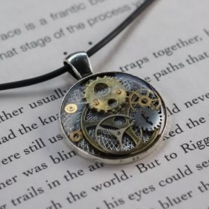 Steampunk Watch Parts Pendant Handmade Necklace